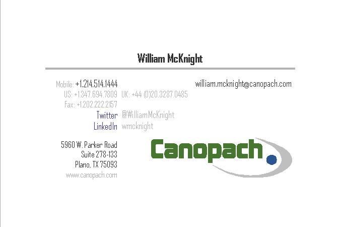 William.McKnight@Canopach.com