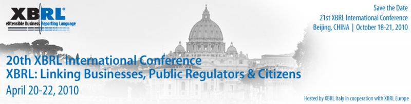 XBRL 20th International Conference, Rome